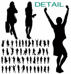 businesswomen silhouettes vector image vector image
