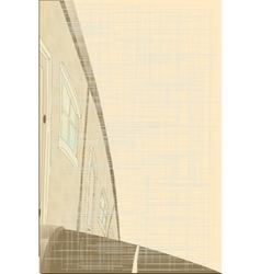 Sepia Tone Village Street vector image