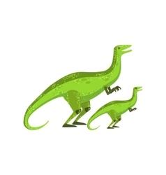 Velociraptor Dinosaur Prehistoric Monster Couple vector image vector image