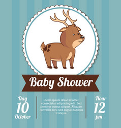 baby shower card invitation vector image vector image