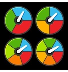 Circle Color Indicators Power Meter Set vector image