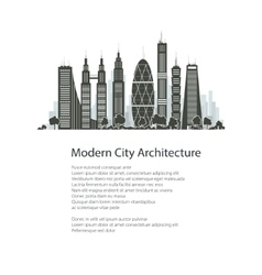 City Financial Center Isolated vector image