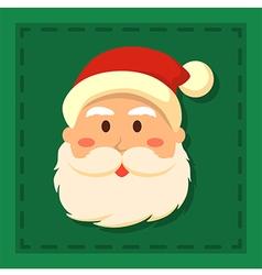 Full Face Santa Green vector image vector image