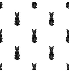 gray catanimals single icon in black style vector image