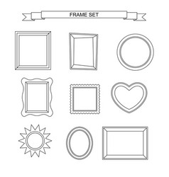 line photo frames vector image