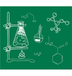 Old science and chemistry laboratory vector image vector image