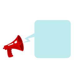 red vintage megaphone vector image vector image