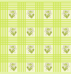 seamless cloth stripes flowers pattern vector image