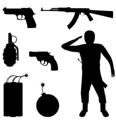 Weapon set vector image vector image