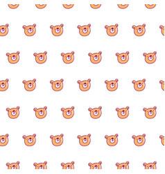 cute bear pattern vector image vector image