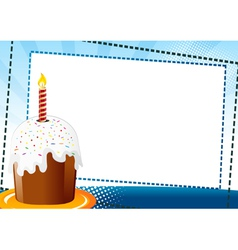 easter chocolate cake vector image vector image