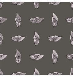 Feather Wings Seamless Pattern vector image vector image