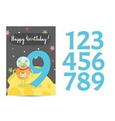 Happy Birthday Cartoon Greeting Card vector image vector image