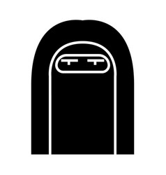muslim woman icon black sign vector image