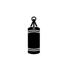 punching boxing bag vector image