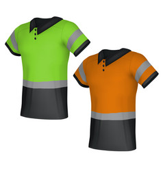 safety reflective polo shirts vector image vector image