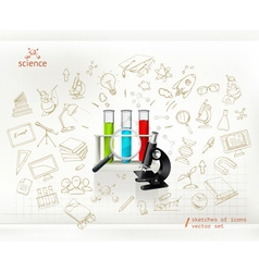 Science infographics vector image