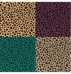 seamless leopard cheetah animal skin pattern vector image vector image