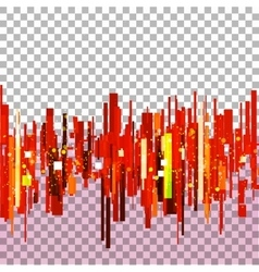 Straight red lines vector image vector image