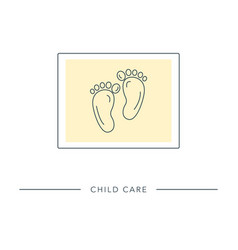 child care - outline icon vector image