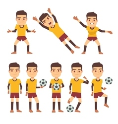 Footballer soccer player goalkeeper in different vector image vector image