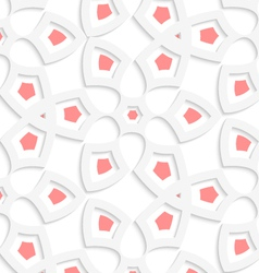 White geometrical floristic net seamless pattern vector image vector image