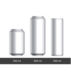 3d can mockup aluminium beer or soda can blank vector image