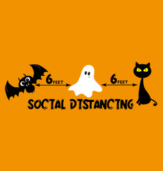 6 feet social distancing - covid-19 information vector