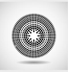 abstract dotted circles dots in circular form vector image