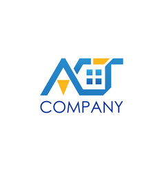 Act real estate letter vector