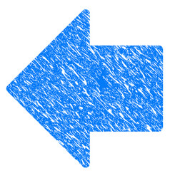 arrow left grunge icon vector image