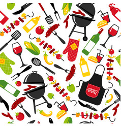 bbq party background on white background vector image