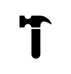 black hammer silhouette vector image
