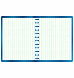 blue notebook vector image