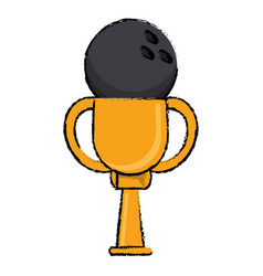 Bowling award cup sport win vector