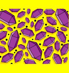 Bright crystal gem retro background vector
