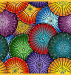 bright japanese umbrella seamless pattern vector image
