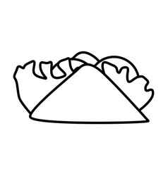 burrito mexican food vector image