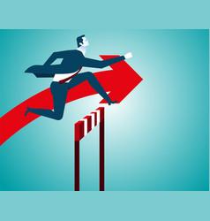 businessman jumping vector image