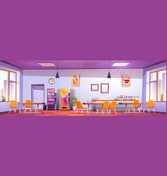 Canteen interior in school college or university vector