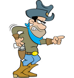 Cartoon angry cowboy vector