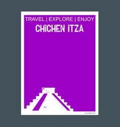 Chichen itza yucatan mexico monument landmark vector