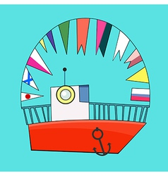Childs ship vector image