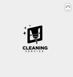 Cleaning service house eco logo template icon vector
