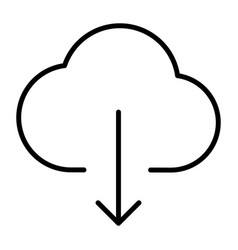 cloud download line icon minimal 96x96 pictogram vector image