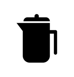 coffee plunger icon vector image