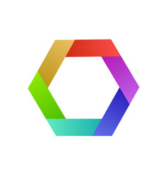 colorful logo design hexagon abstract idea for vector image