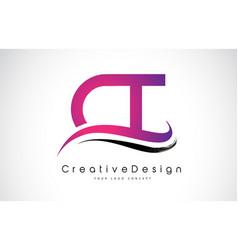 Ct c t letter logo design creative icon modern vector