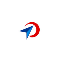 cursor play technology media logo vector image