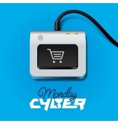 Cyber Monday button on keyboard vector image
